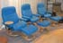 Stressless Ambassador Large Recliner and Ottoman - Paloma Sky Blue Leather by Ekornes