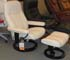 tressless Consul Medium Recliner and Ottoman - Batick Cream by Ekornes