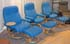 Stressless Diplomat Small Consul Recliner and Ottoman - Paloma Sky Blue Leather by Ekornes