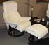Stressless Dream White Fabric Recliner Chair