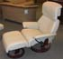 Stressless Dream Leather Recliner and Ottoman - Paloma Kitt Leather