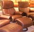 Stressless Spirit Recliner Chair and Ottoman - Royalin Amarone Leather