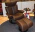 Stressless Magic Large Recliner and Ottoman - Royalin Brown Leather