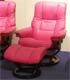 Stressless Mayfair Paloma Cerise Pink Leather Recliner