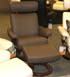 Stressless Orion Medium Recliner and Ottoman - Paloma Khaki by Ekornes