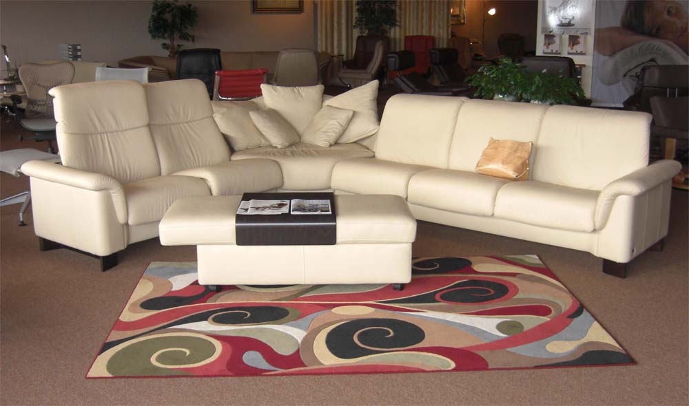 Stressless Paradise High Back Paloma Kitt Leather Sofa Sectional by Ekornes