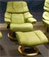 Stressless Reno Paloma Green Leather Recliner Chair