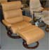 Stressless Savannah Large Recliner and Ottoman - Paloma Tan Leather by Ekornes