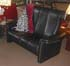 Stressless Soul High Back Royalin Black Leather 2 Seat Sofa