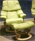 Stressless Tampa Small Reno Paloma Green Leather Recliner Chair