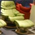 Stressless Vegas Paloma Green Leather Recliner Chair