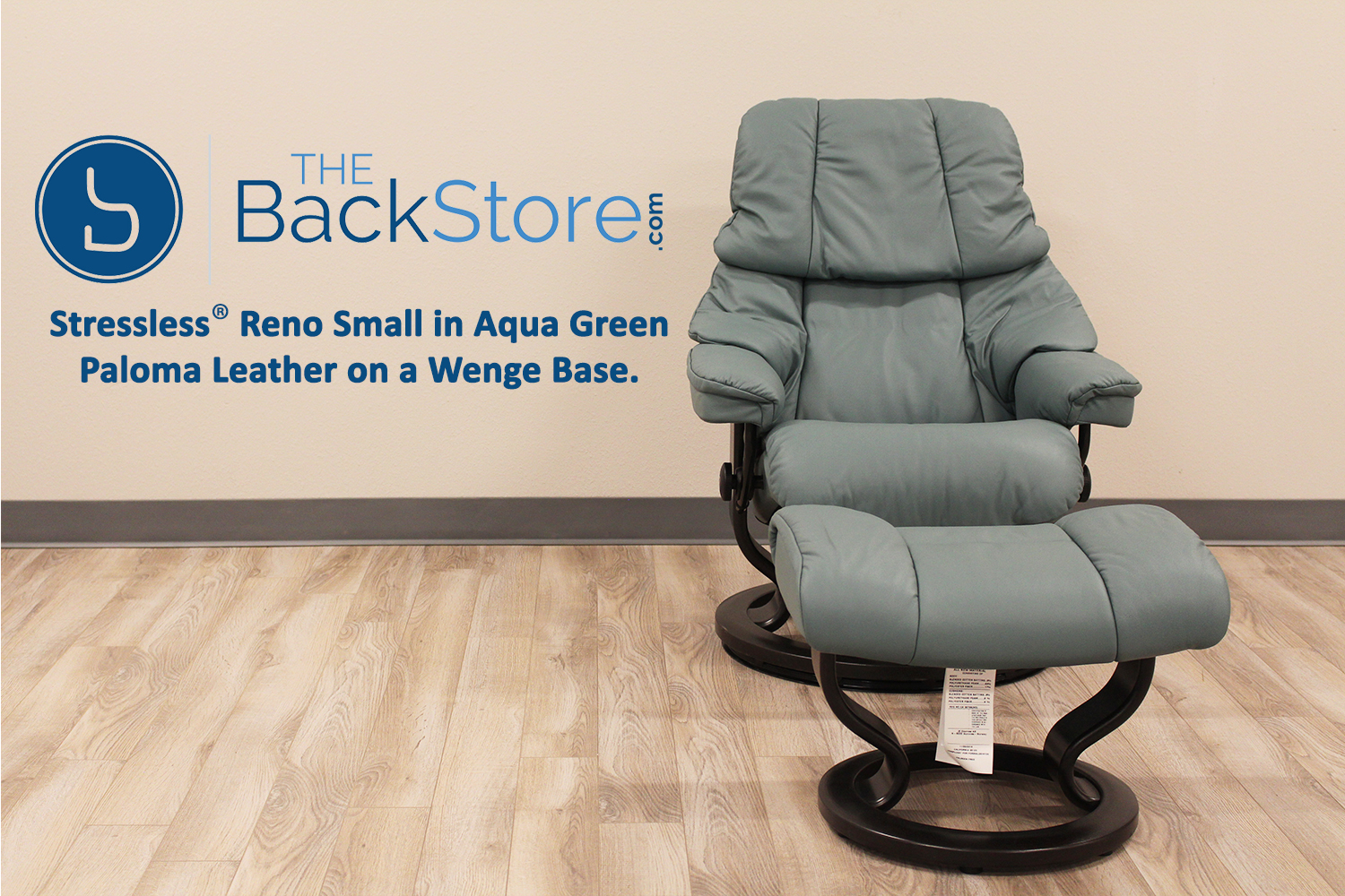 stressless tampa small reno paloma aquagreen leather recliner chair by ekornes
