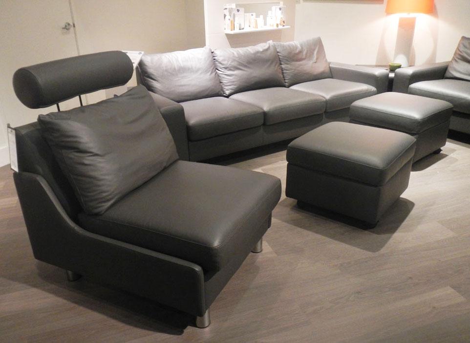Stressless E200 Loveseat Sofa in Paloma Rock Leather by Ekornes ...