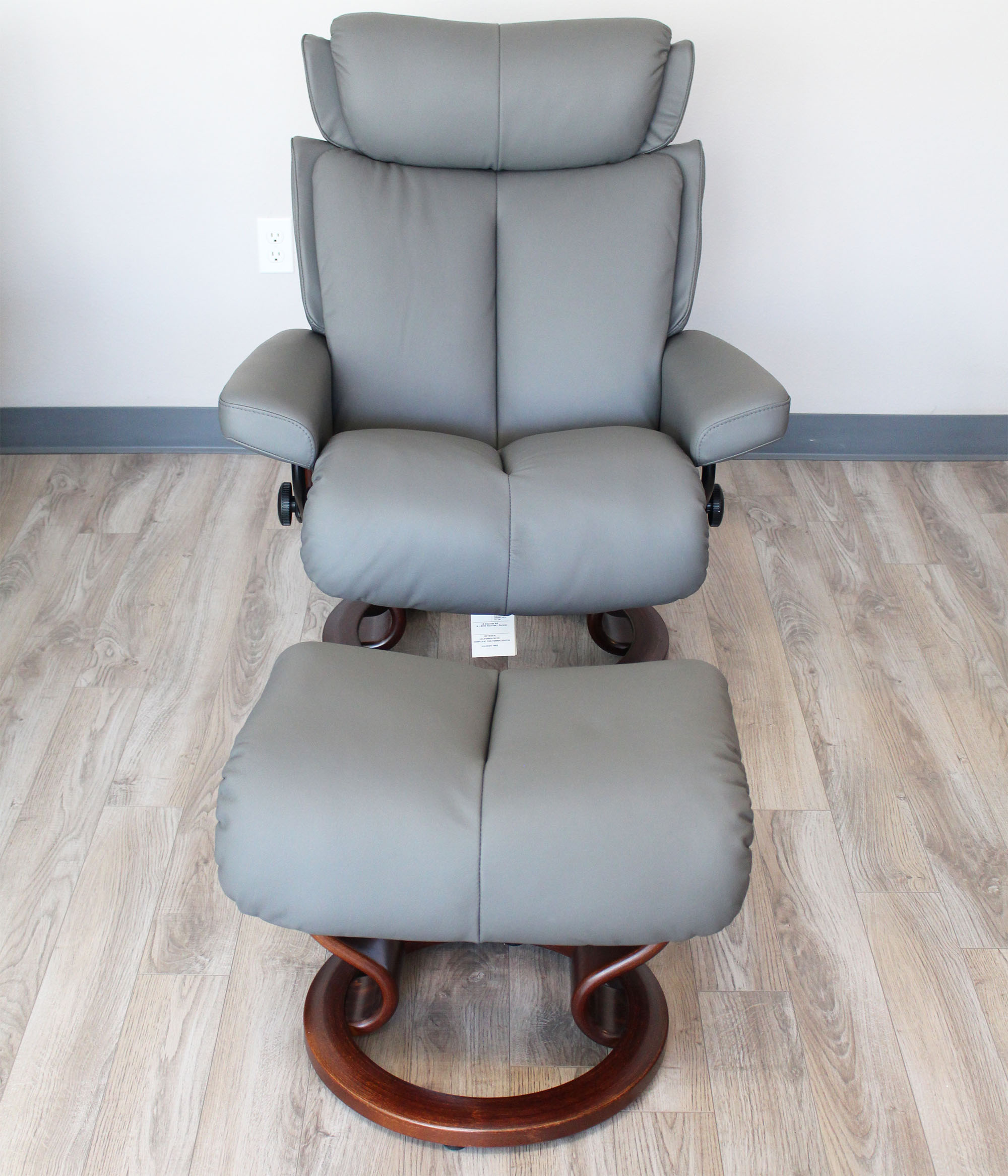 Ekornes chairs for sale stressless paloma indigo leather by ekornes - Stressless Magic Paloma Metal Grey Color Leather Recliner Chair And Ottoman Stressless Magic Family Recliner Chair Dimensions From Ekornes