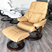 Stressless Reno Recliner and Ottoman in Paloma Leather