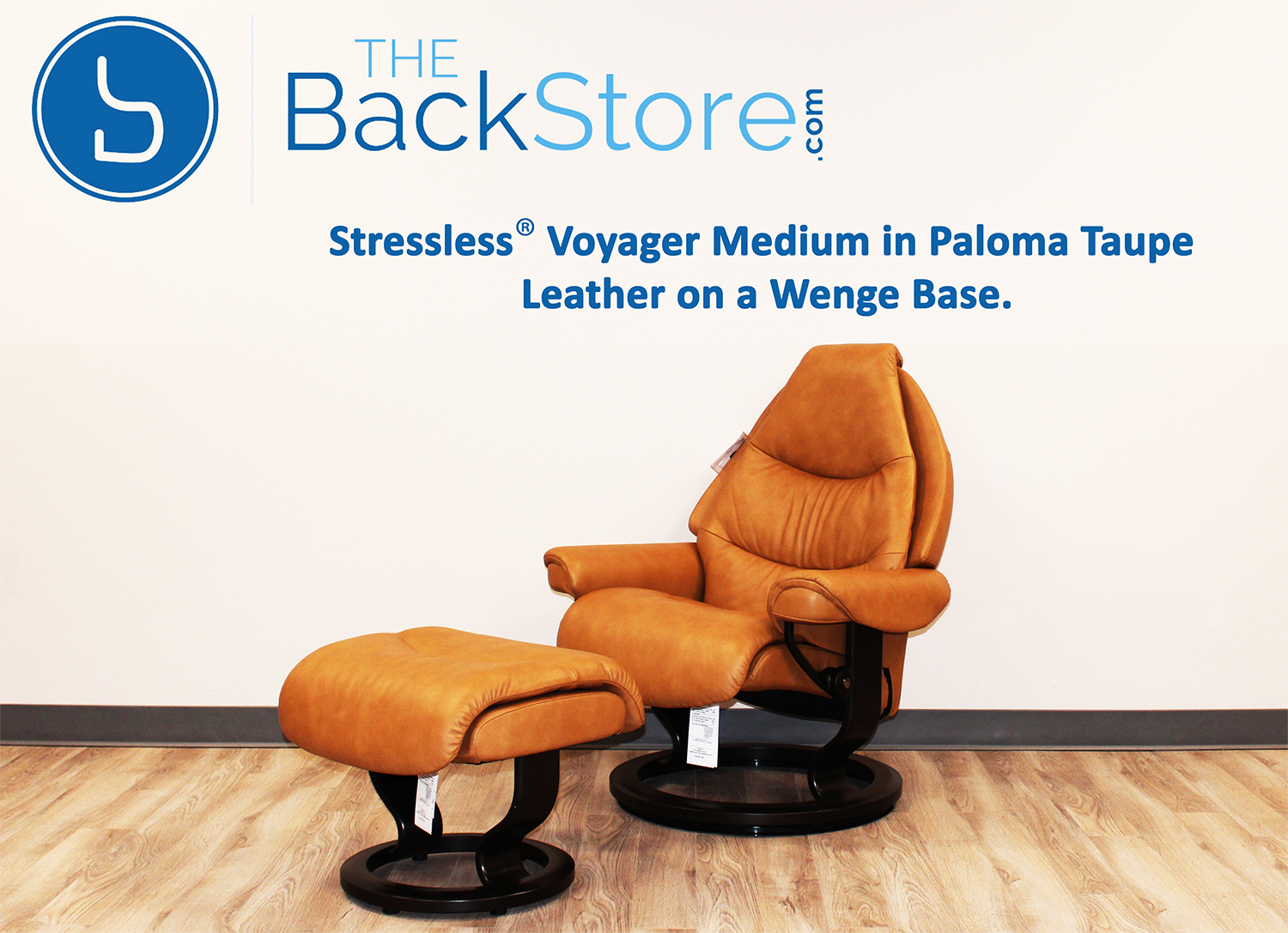 stressless voyager paloma taupe leather recliner chair by ekornes