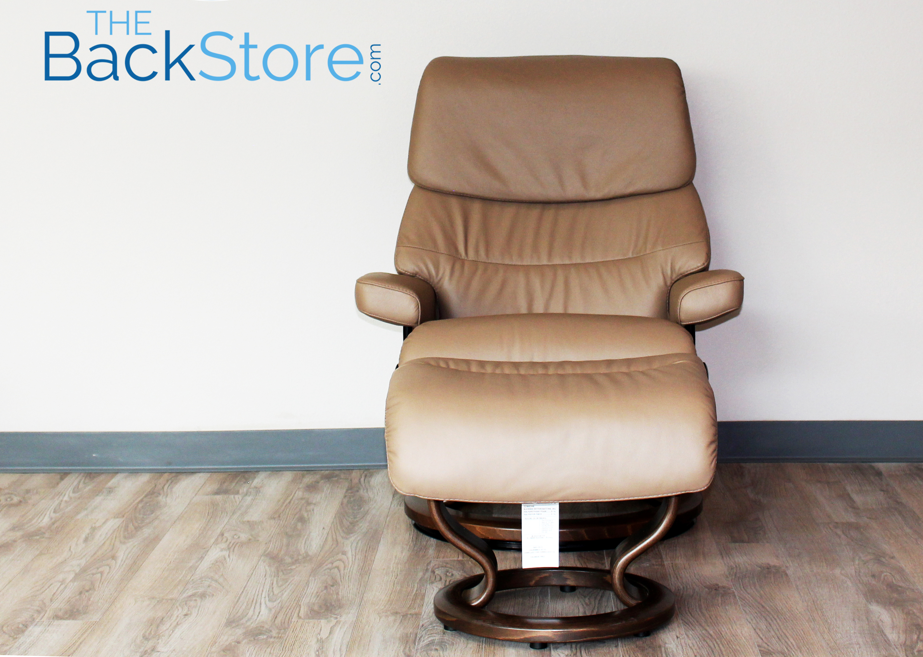 Stressless Recliner Chair Capri Paloma Funghi Leather And Ottoman By Ekornes
