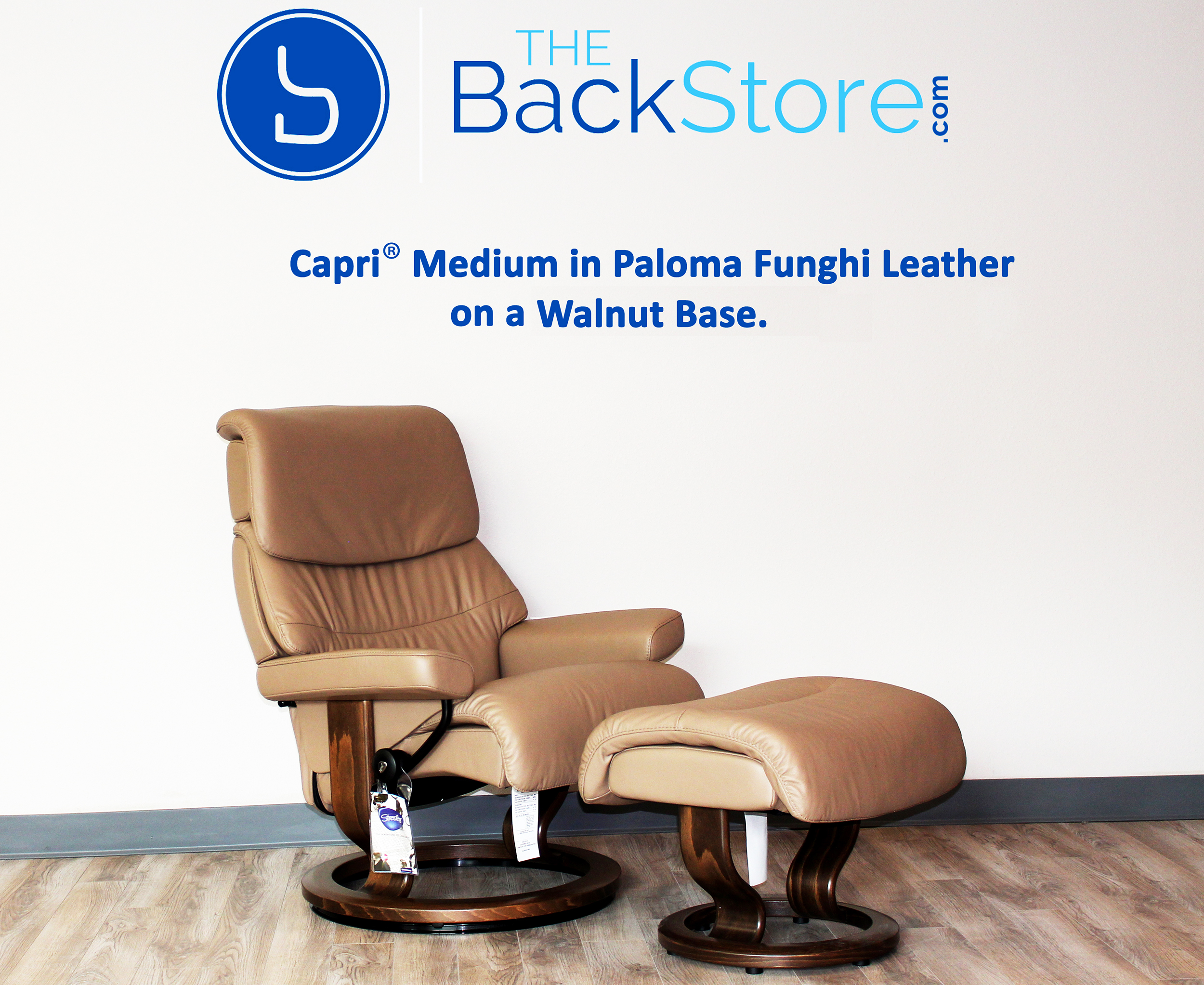 Stressless Capri Paloma Funghi Leather Recliner Chair and Ottoman by Ekornes  sc 1 st  BACKSTORE.COM & Stressless Capri Paloma Funghi Leather by Ekornes - Stressless ... islam-shia.org