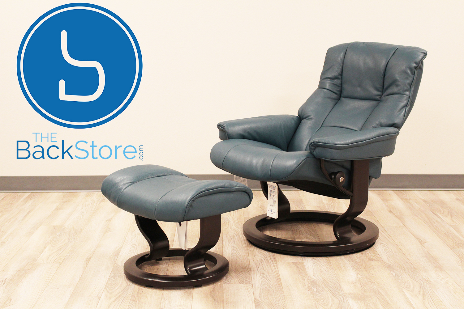 Image Of Vintage Ekornes Stressless Chair And Ottoman 1