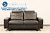 Stressless E200 LoveSeat Sofa in the Paloma Black Leather