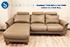 Stressless E300 3 Seat Sofa with LongSeat in Cori Khaki Leather