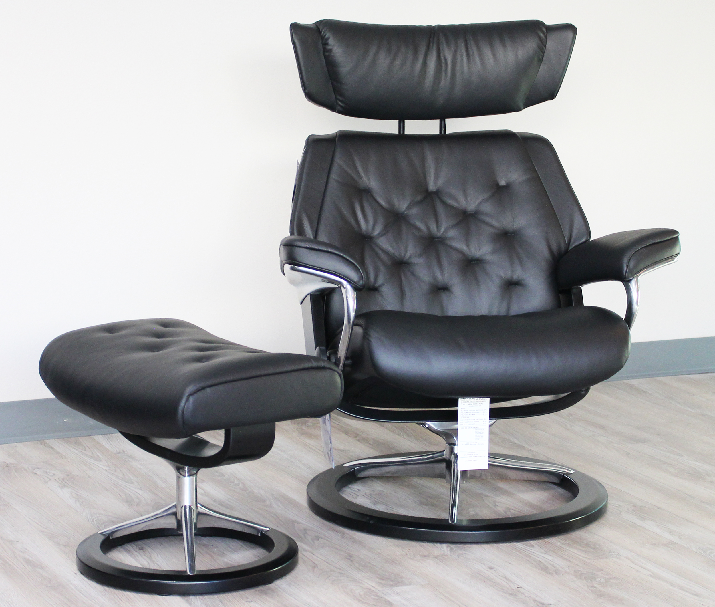 office recliners. stressless skyline signature base medium paloma black leather recliner chair by ekornes office recliners
