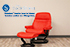 Stressless Sunrise Large Recliner Chair and Ottoman in Paloma Tomato Leather