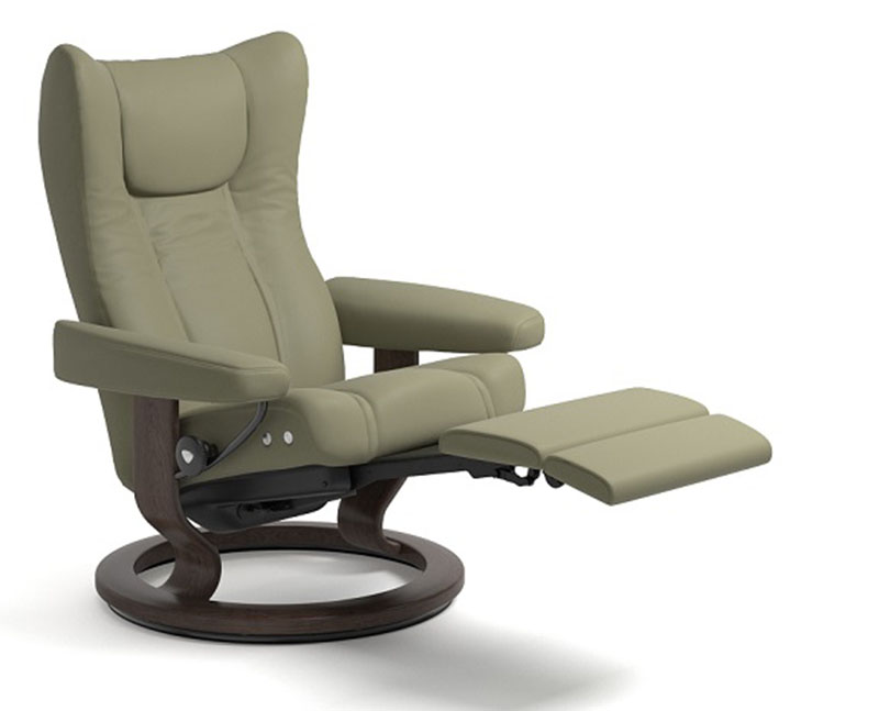 Groovy Stressless Wing Recliner Classic Wood Base Chair And Ottoman Creativecarmelina Interior Chair Design Creativecarmelinacom