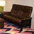 Buckingham Stressless LoveSeat Sofa Paloma Chocolate Leather