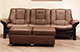 Buckingham Stressless Sofa Paloma Brown Leather