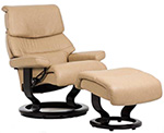 Stressless Capri Recliner Chair and Ottoman