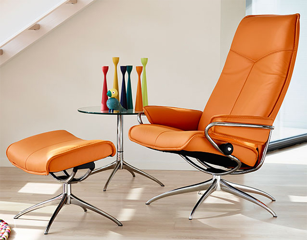 Charmant Stressless Stressless City High Back Paloma Clementine Leather Recliner  Chair By Ekornes
