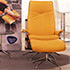 Stressless City High Back Paloma Clementine Leather Recliner and Ottoman in Paloma Leather by Ekornes