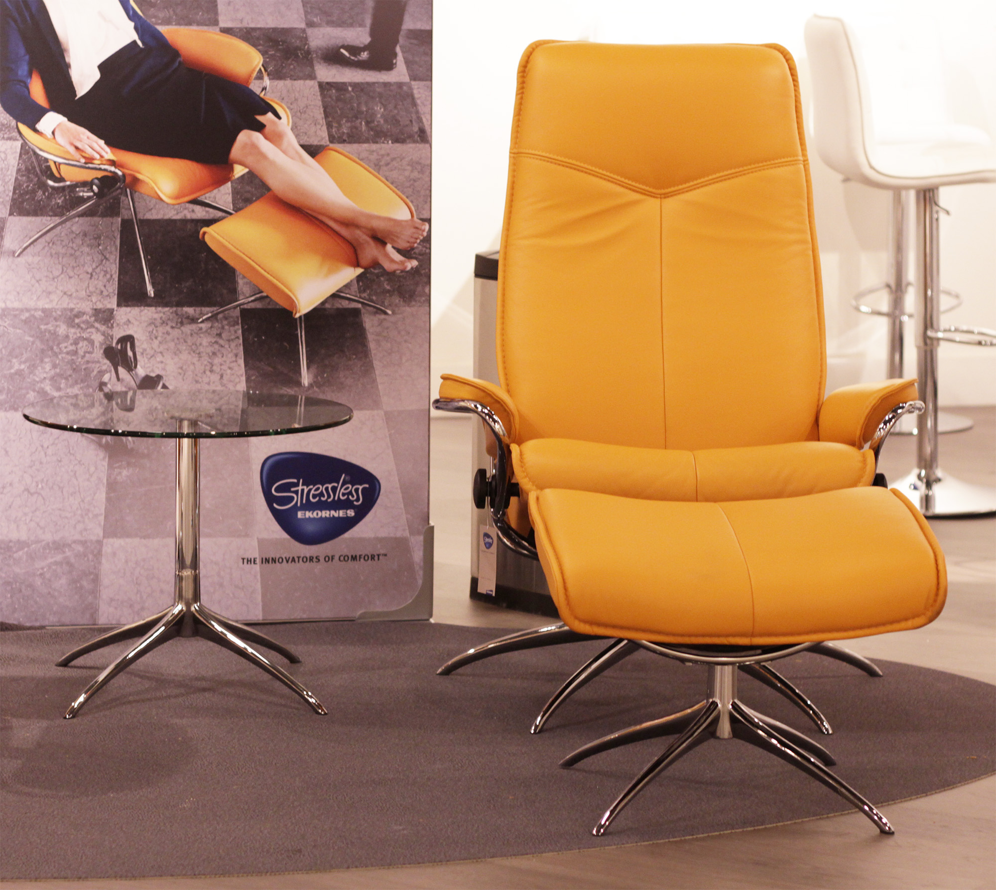 Stressless Stressless City High Back Paloma Clementine Leather by