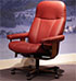 Stressless Consul Batick Burgundy Leather Office Desk Chair