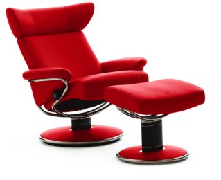 Red Leather Reclining Chair stressless paloma chilli red leatherekornes - stressless