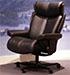 Stressless Magic Paloma Black Leather Office Desk Chair
