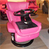 Stressless Magic Small Paloma Cerise Leather Recliner Chair and Ottoman