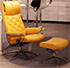 Stressless Metro Paloma Clementine Leather Recliner and Ottoman in Paloma Leather by Ekornes