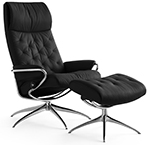 Stressless Metro High Back Recliner Chair and Ottoman