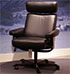 Stressless Orion Paloma Black Leather Office Desk Chair