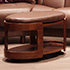 Stressless Oval Ottoman Royalin Dark Brown Leather