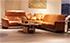 Paradise Paloma Brandy Leather Sectional Sofa