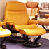 Stressless Sunrise Large Paloma Clementine Leather Recliner and Ottoman in Paloma Leather by Ekornes