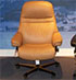 Stressless Sunrise Paloma Taupe Leather Office Desk Chair