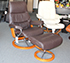 Stressless View Medium Recliner and Ottoman in Paloma Mocca Leather