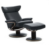 Stressless Jazz Ergonomic Recliner and Ottoman by Ekornes