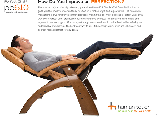 Human Touch PC-610 Omni-Motion Power Perfect Chair Recliner