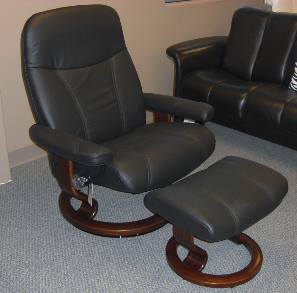 Stressless Batick Black 09319 Leather Recliner