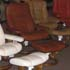 Stressless Ambassador Large Consul Batick Caramel Leather Recliner Chair and Ottoman